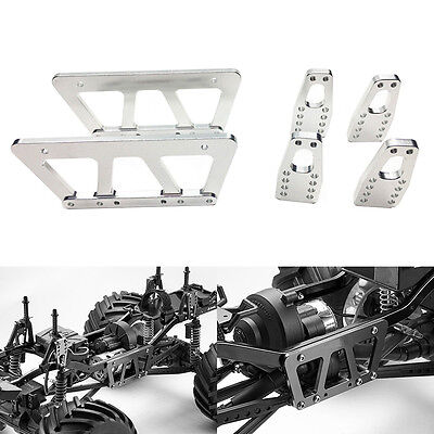 Alloy Chassis Lift Plate Set Kit for 1/10 RC Axial SCX10 Model Car Part Silver