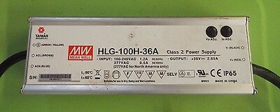 Mean Well HLG-100H-36A Class 2 Power Supply Single-OUT 36V 2.65A 96W 5 Pin @n6