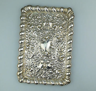 Antique solid silver :  A large quality Dressing Table Tray Carrington C.1903