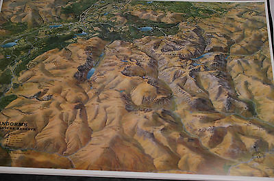 3D Aerial Panoramic Map of The Cairngorms No9 Unusual Gift Idea