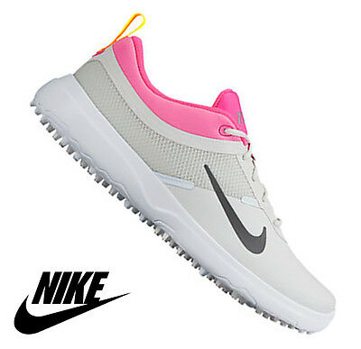 online store 64103 7d607 New Nike Womens Akamai Golf Shoes Platinum Grey Pink 818732-002 All Sizes