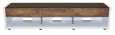 TV Stand Entertainment Unit 2000MM Cabinet Drawer Plasma LCD LED White & Timber