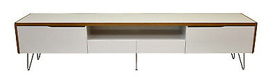 TV Stand Entertainment Unit 2200MM Cabinet Drawer Plasma LCD LED White