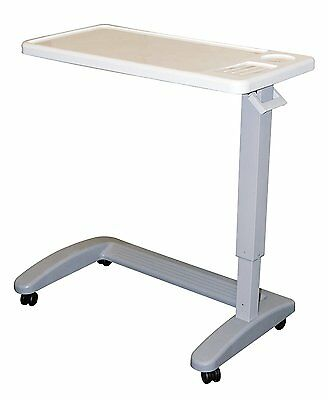 Adjustable Overbed Table Hospital Over The Bed Tray Breakfast Medical Rolling