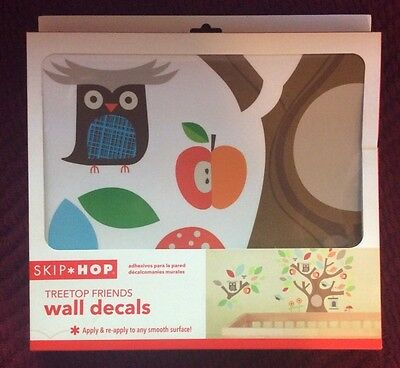Skip Hop Tree Top Forest Friends Owl Wall Stickers Tree Decals NEW NIB