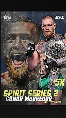 Topps UFC Knockout: Spirits Series 2 Conor McGregor 5x Boost Digital