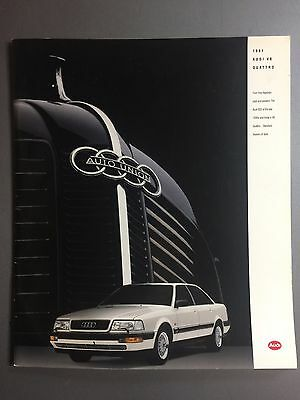 1991 Audi V8 Quattro DELUXE Showroom Advertising Brochure RARE Awesome L@@K