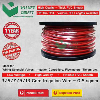 3/5/7/9/13 core / Multi Core Irrigation wire/cable 0.5 sqmm - Meter Cut Lengths