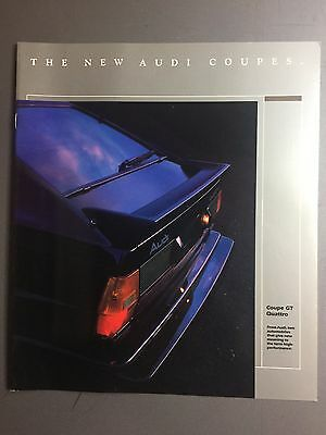 Audi Coupes Showroom Advertising Sales Brochure RARE!! Awesome L@@K