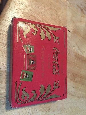1970's Coca-Cola Old Fashioned Tin & Playing Card Set Score Pad Pencil 2 Decks