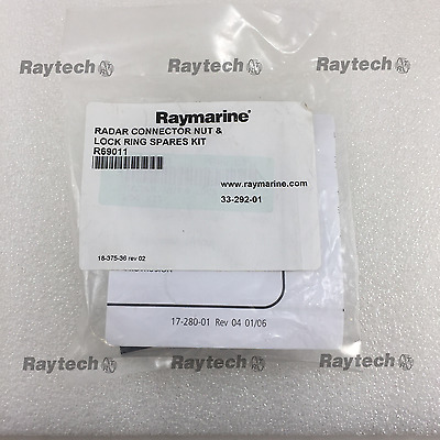 Raymarine R69011 Radar and DSM30/300/CP370 Connector Nut & Lock Ring Kit