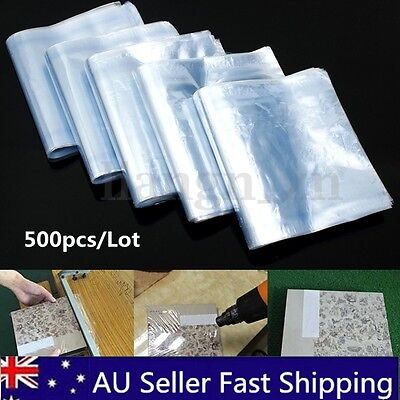 500Pcs Lot PVC Heat Shrink Wrap Film Clear Flat Poly Bags Soap Candles Packaging
