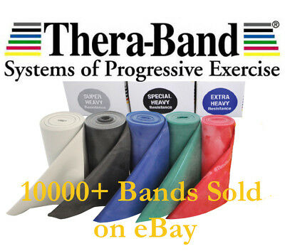 Genuine Theraband Exercise Resistance Physio Thera-band Band 1.5m Medium to Max