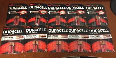 Lot 16 Duracell Quantum AAA Batteries with Duralock Power Preserve Tech, 2023+