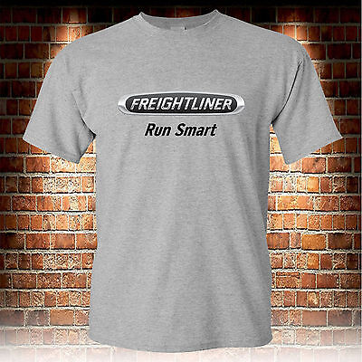 Freightliner Trucks Logo Custom Grey T-Shirt Men's Tshirt S to 3XL