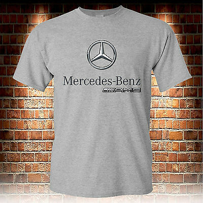 Mercedes-Benz AMG Logo Custom Grey T-Shirt Men's Tshirt S to 3XL