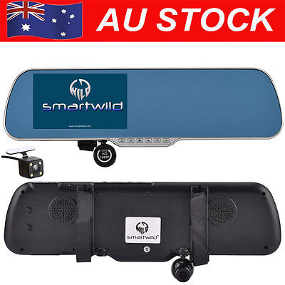 5 inch 1080P Android GPS Navigation RearView Mirror Camera CAR DVR Dash Cam W840