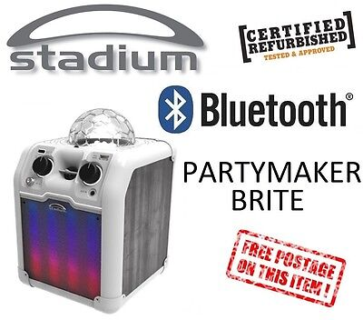 Stadium Bluetooth AUX Karaoke System Built-in Light Show Brite PA PARTYLTW *RFB*