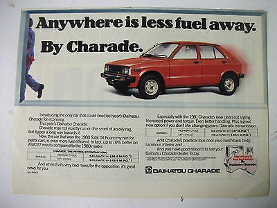 1981 Daihatsu Charade Australian Magazine Fullpage Colour Advertisement