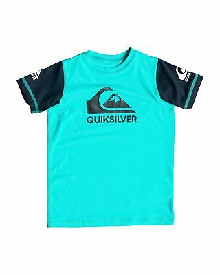 NEW QUIKSILVER™  Boys 2-7 Heats On Short Sleeve Rash Vest Boys Children