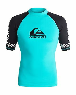 NEW QUIKSILVER™  Mens On Tour Short Sleeve Rash Vest Rashie Rashvests
