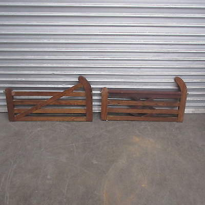 DECORATIVE TIMBER GATE TOPPERS X 2 / RUSTIC CHARM GARDEN ORNAMENTS, bn1
