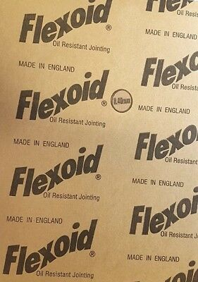 Genuine Flexoid Gasket Paper A4 size Sheet (Free UK Postage) 0.40mm Thick