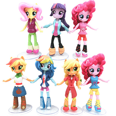 7 My Little Pony Equestria Girls Action Figures Dolls Play Toy Cake Topper Decor
