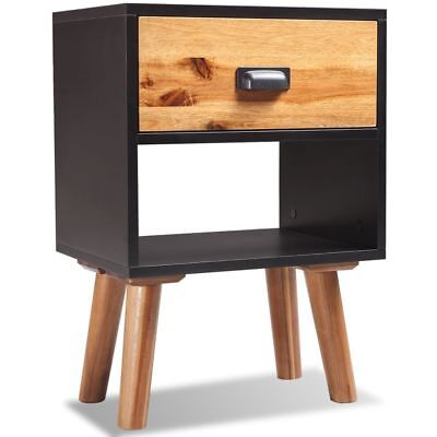 vidaXL Solid Acacia Wood Bedside Cabinet 40x30x58 cm Nightstand Table Chest