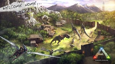 ARK Survival Evolved Game Canvas Poster 8x14 32x57/'/'