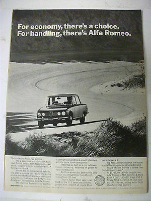 1971 Alfa Romeo 1750 Berlina Usa Magazine Fullpage Advertisement