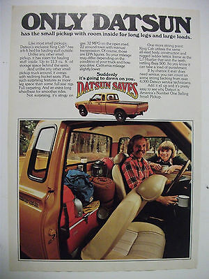 1977 Datsun King Cab Pickup Usa Magazine Fullpage Colour Advertisement