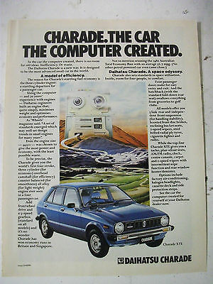 1980 Daihatsu Charade Australian Magazine Fullpage Colour Advertisement