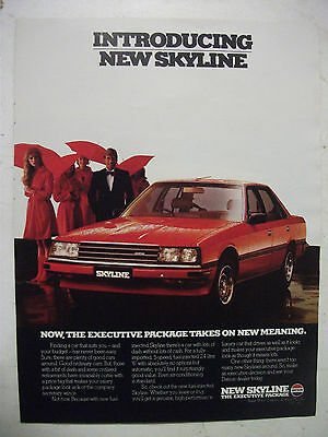 1982 Nissan Skyline Sedan Australian Magazine Fullpage Colour Advertisement