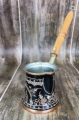 Handcarved Copper Turkish Coffee Pot - Thick Copper, Perfect Work, Free Shipping