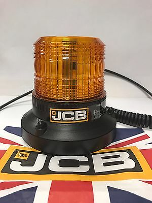 **SALE** 1X GENUINE JCB LED Amber Beacon 336/B4941 3CX 801 Loadall 12v 24v R65