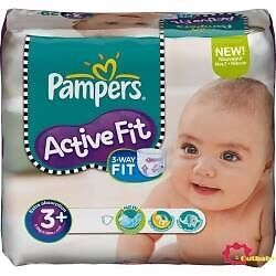 Pampers Active Fit S3 - 3x 54 Couches