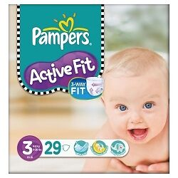 Pampers Active Fit S3 - 4x 29 Couches
