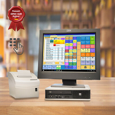 All-In-One 15 Zoll Touch Kassensystem mit Bonosoft Einzelhandel Kassensoftware