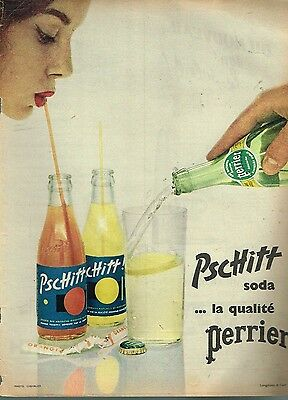 D- Publicité Advertising 1956 Limonade Soda Pschitt par Perrier