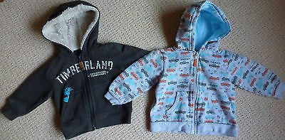 Boys Timberland and Target Cars Zip Up Jacket with Hood Size 1 Age 12 Months