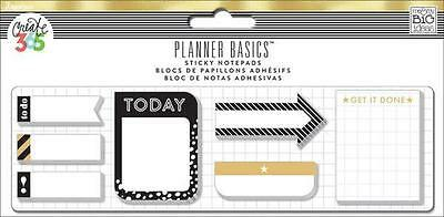 Create 365 Happy Planner Sticky Notes Black White Gold MAMBIPlanner Decoration