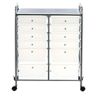 Honey-Can-Do 12-Drawer Plastic Rolling Cart Perfect Crafting Storage Organizer