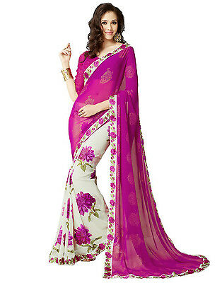Bollywood Indian Pakistani Ethnic Party Wear Saree Designer Sari with Blouse 002