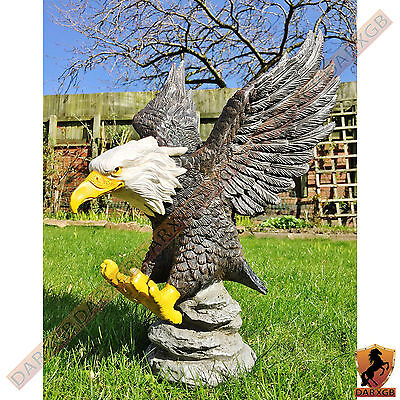 Garden Ornament American Bald Eagle Indoor Outdoor Decorative Statue NEW Decor