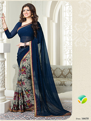 Bollywood Indian Pakistani Ethnic Party Wear Saree Designer Sari with Blouse 008