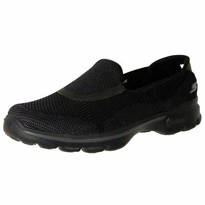 Skechers Go Walk 3 GO KNIT 14083 black Women's Comfort Walking Shoes GOGAMAT