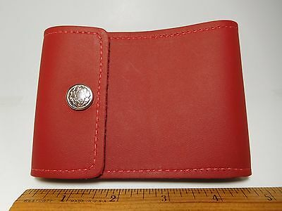 North Star Red End Stub Style Leather Checkbook Cover-Factory Second-US Made#134