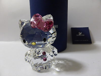 Swarovski Silver Crystal Hello Kitty With Pink Bow Mint