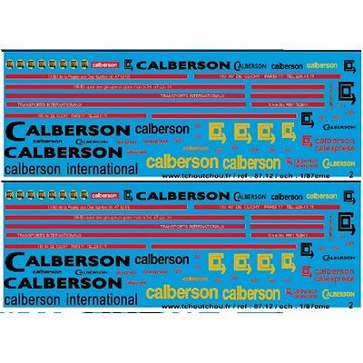 87.112 - camions calberson 1/87eme - 87.112